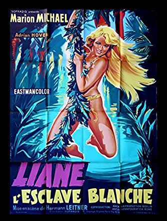 JUNGLE GIRL & THE SLAVER * FRENCH 1P ORIG MOVIE POSTER