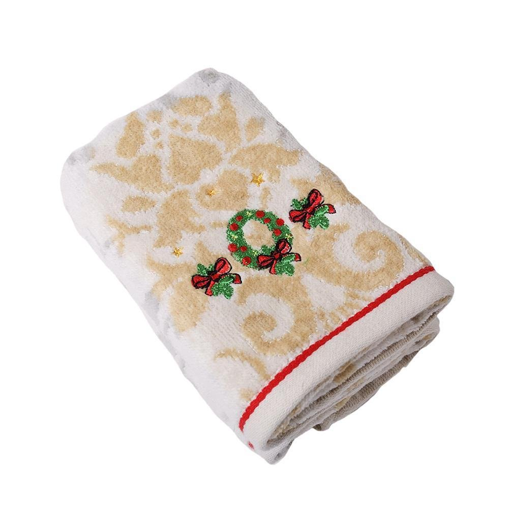 Ankamal Elec 1PC absorbent cashmere Home Christmas series of cashmere cotton towel children wash a small towel super cotton absorbent towel UKXHAN