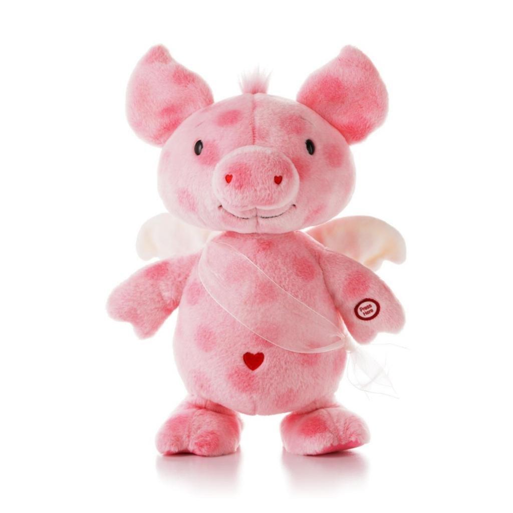 Amazoncom Hallmark 2013 Valentine Lpr3848 Cupig Techno Plush Toys Games   Valentine  Pig