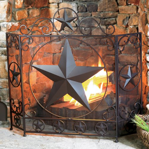Black Forest Decor Lone Star Fireplace Screen