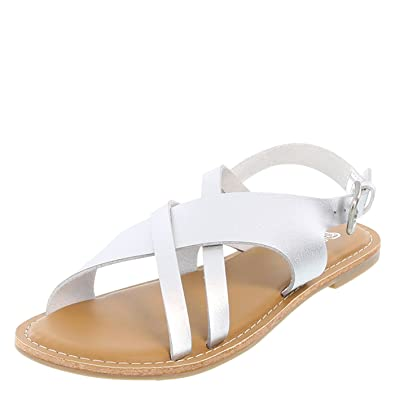 b4b373df3d4 Brash Silver Women s Tapsy Flat Sandal 6 Regular