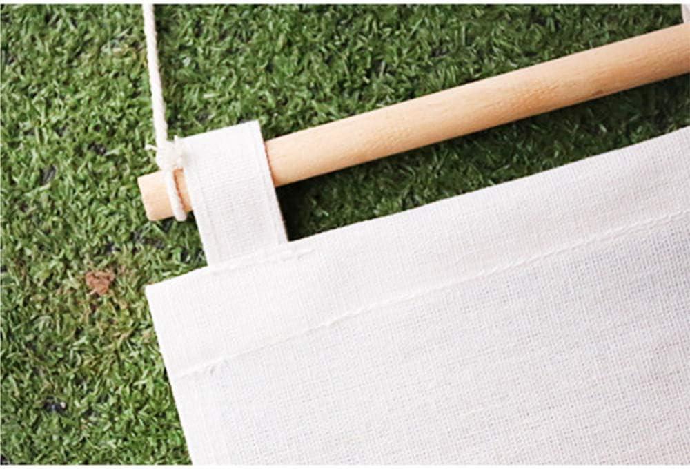 Flamant Blanc Organisateur de Sac de Rangement Mural Penderie sur Le Sac de Rangement Organisateur de Porte Mural 3 Poche Sac de Rangement MINGZE Lin Sac de Rangement Suspendu Organisateur