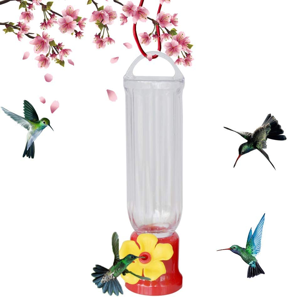 TWO 2 QUALITY Hummingbird Feeder with Hanging Iron Hook Garden Collection