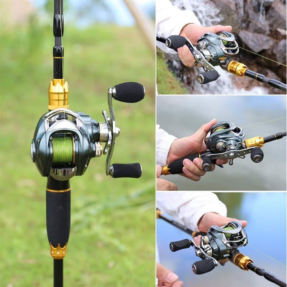 YUANYUAN520 Se/ñuelo Ca/ña De Pescar Y Carrete Baitcasting 4 Secciones Carbono Spinning Se/ñuelo Ca/ña Y Fundici/ón Carrete De Pesca Establece Pesca