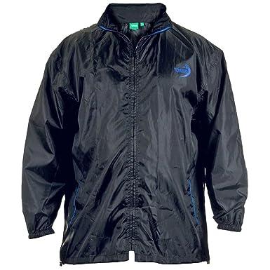 Duke Men's Kingsize Packaway Weather Proof Rain Coat Jacket With  Pouch-Black-4XL