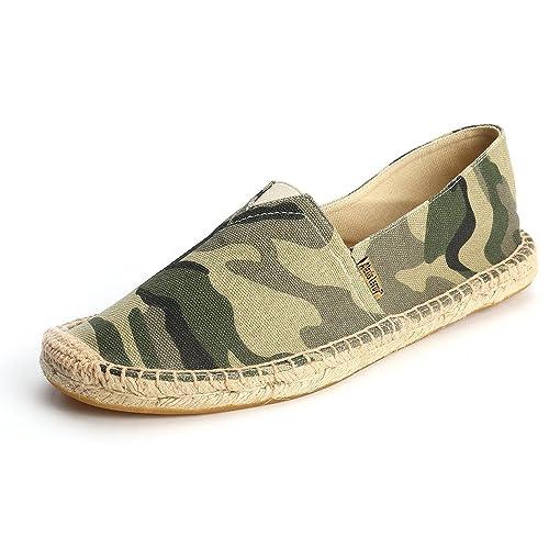 Alexis Leroy Alpargatas Camo para Hombre Verde 41 EU / 7 UK: Amazon.es: Zapatos y complementos