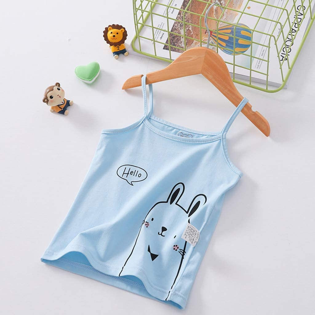 TIANRUN Children Girl Cool Summer Sleeveless Candy Color Vest Kids T-Shirt Undershirt Tops Clothes for 2-6 Years