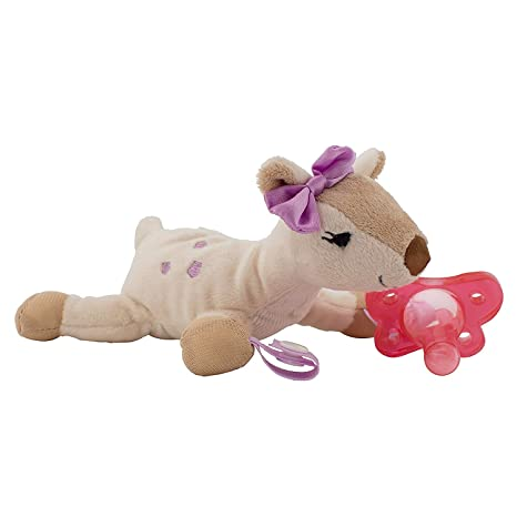 Amazon.com: Dr. Browns Lovey Pacifier and Teether Holder, 0 ...