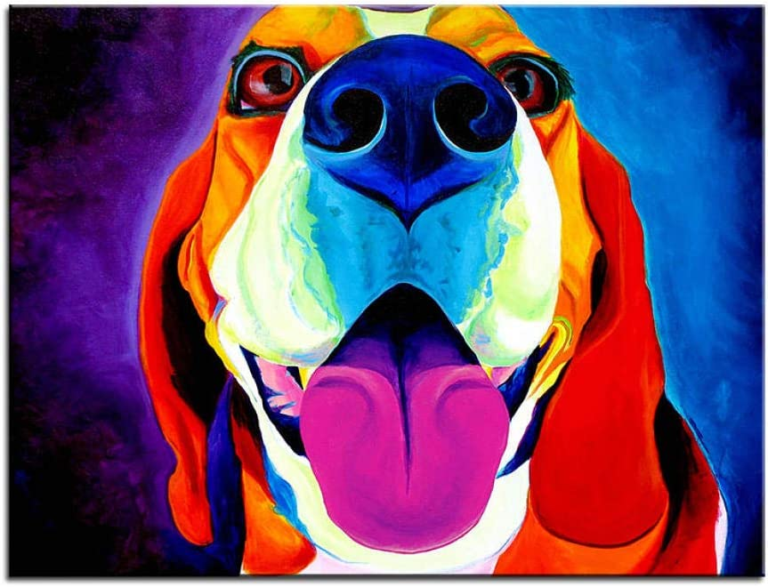 cgsmvp Gro/ßformat Druck /Ölgem/älde Wandmalerei Beagle Saphira Home Dekorative Wandkunst Bild f/ür Wohnzimmer Malerei 40x50cm-rahmenlos