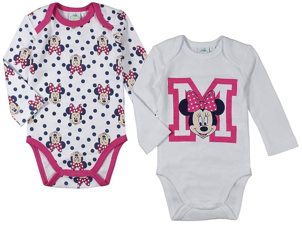 Minnie Disney 0 /à 24 Mois Rose Blanc//Rose Body B/éb/é Fille