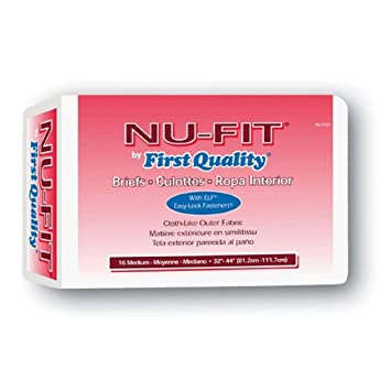 Nu Fit Adult Diapers, Medium 32 - 44 Latex Free, 96 Case
