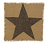 New IHF Home Decor Kitchen Tablemat Burlap Star Pattern Dining Table Mat 100% Cotton 13 Inches x 13 Inches Rectangular Tablemats