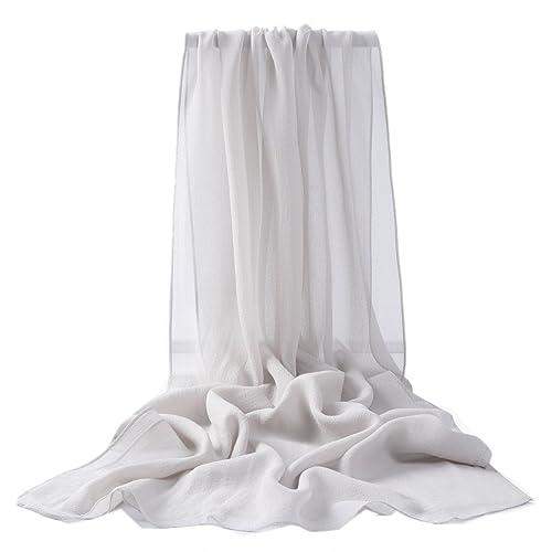 Prettystern – uni- tinta unita semplice scialle in seta pura Sciarpa Stole – 30 colori selezionabili