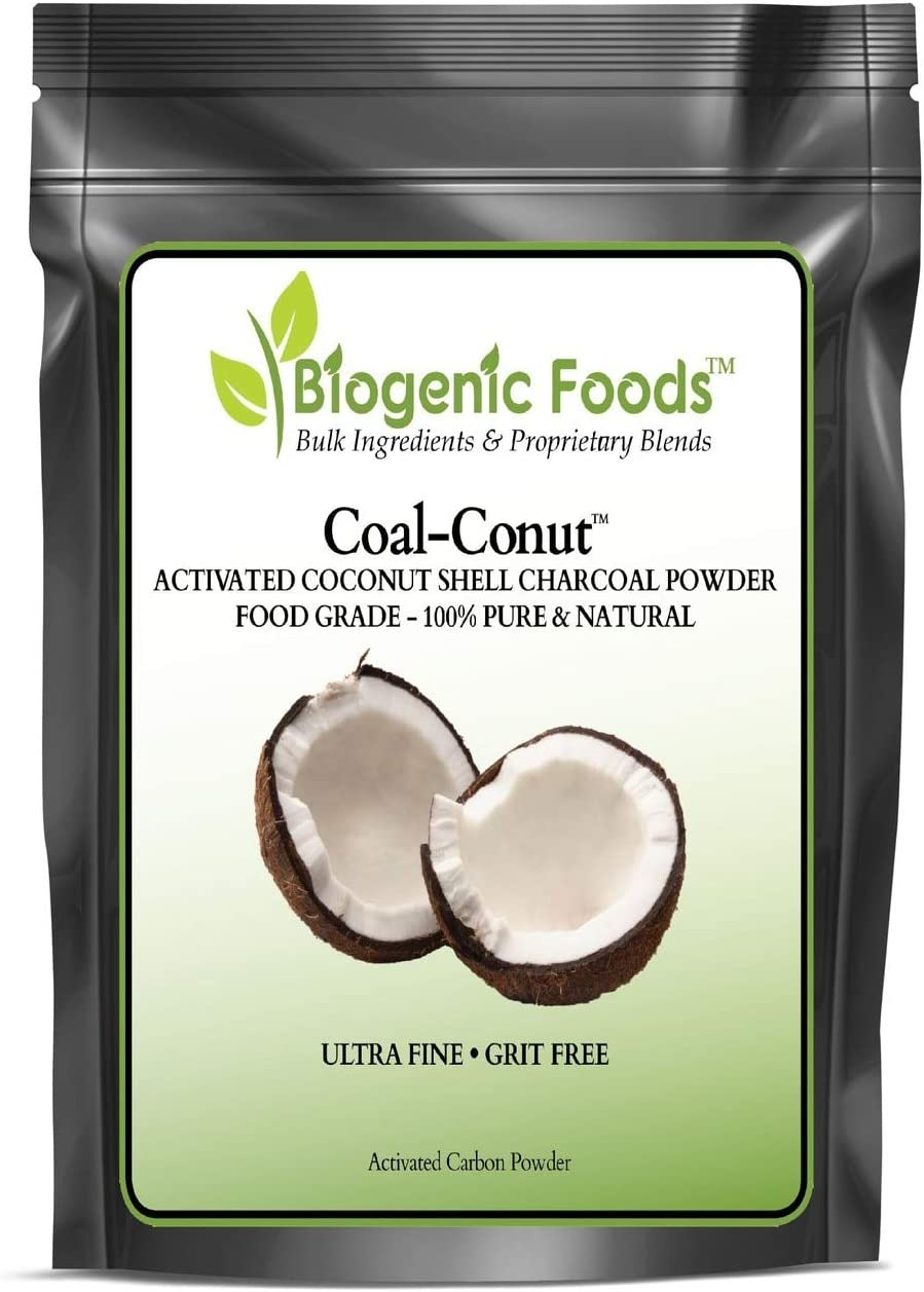 Coal-Conut™ - Activated Coconut Shell Charcoal Fine Husk Food Grade Powder (Ultra-Fine) - Organic Use Approved 8 oz
