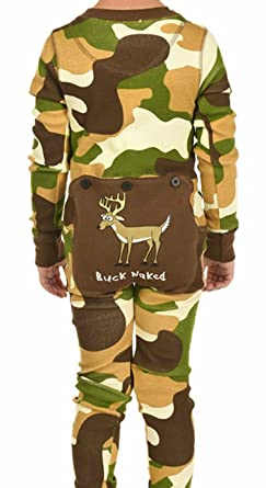 lazy one kids flapjack onesies decorative trapdoor 2t buck naked