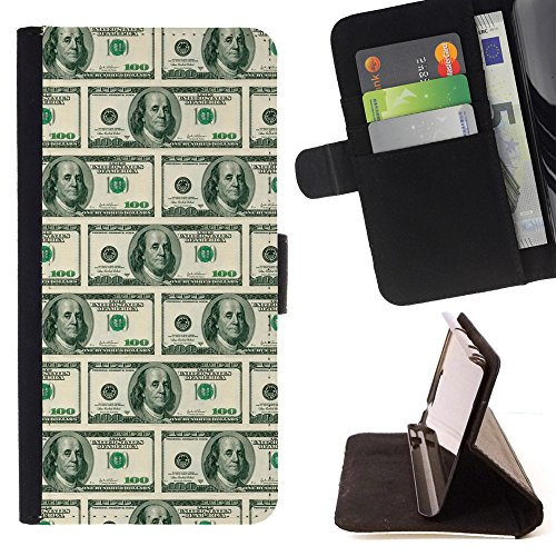 (BOOK CASE - FOR Lumia 530 - American dollar notes - Folio PU Wallert Leather Case)