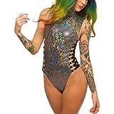 0ea75a1846 Tefuir Maillot de Bain Femme 1 Pieces Amincissant Pas Cher a la Mode  Bresilien Triangle Bikini