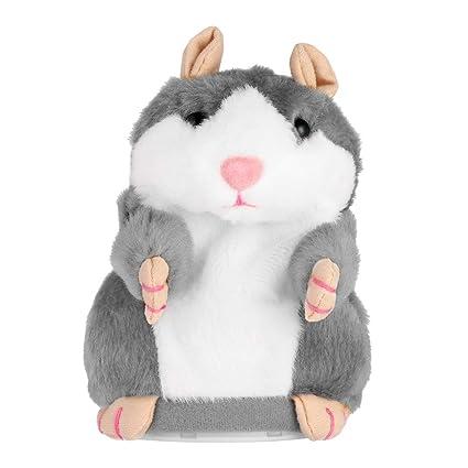 Sprechender Hamster elektronisches Plüschtier Maus Haustier Ton Geschenk Kinder