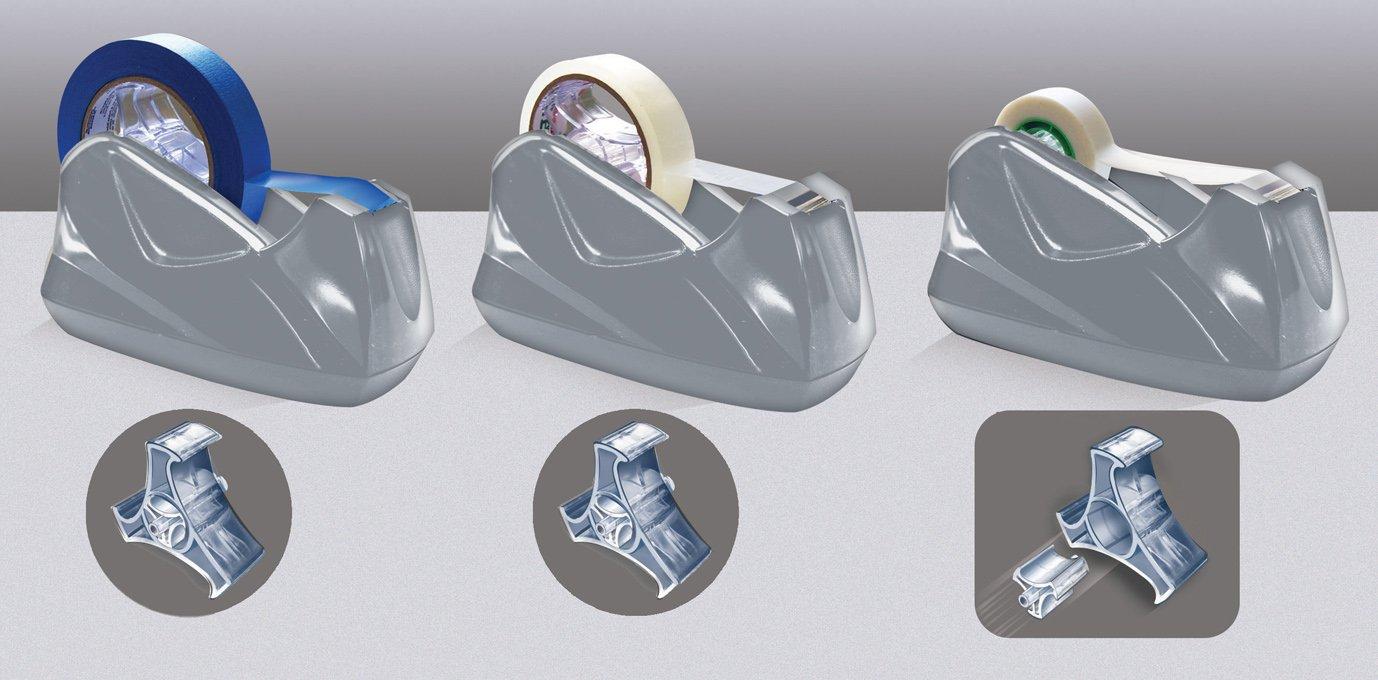Acrimet Premium Tape Dispenser Jumbo (Platinum Silver Color)