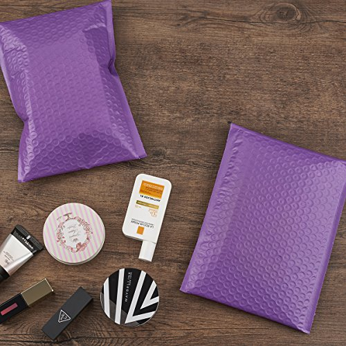 FU GLOBAL Purple Bubble Mailers 8.5x12 Inch #2 Padded Envelopes Pack of 25 Photo #7