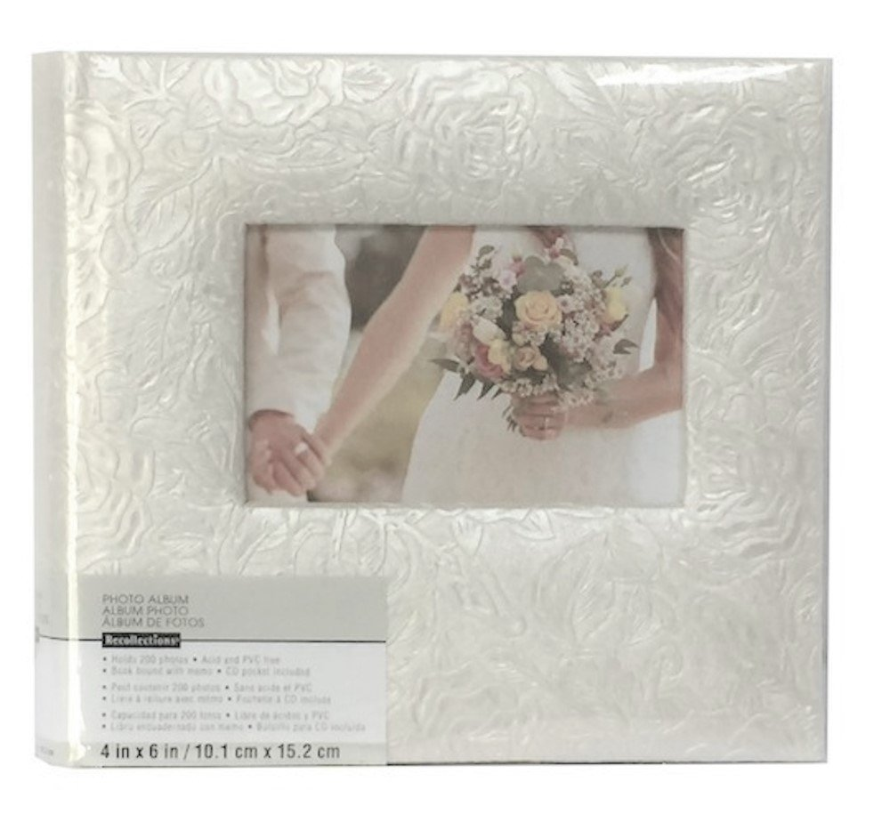 Pearl Climbing Rose 2-UP Photo Album for 4'' x 6'' Photos with 200 Photograph Capacity