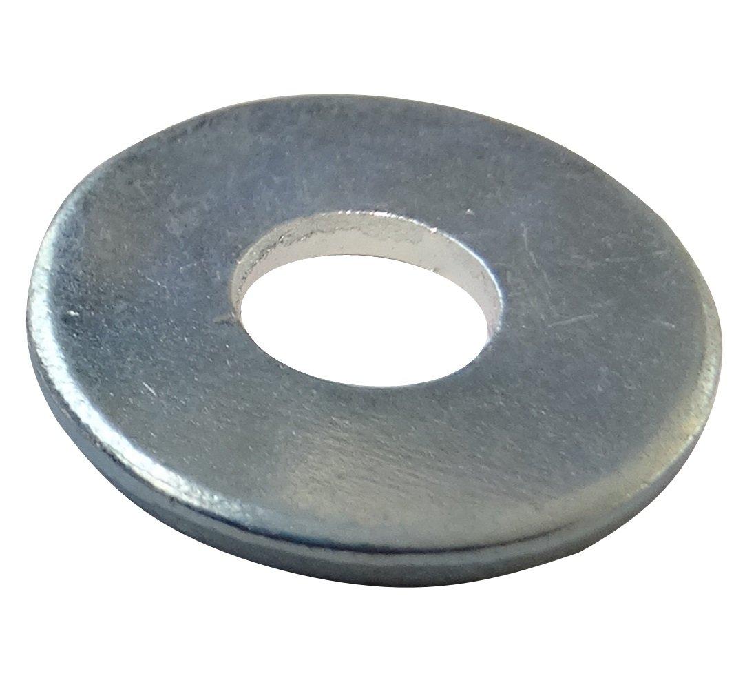 AERZETIX 100x Arandelas planas M5 Ф15mm H1.2mm DIN9021 acero galvanizado C17699