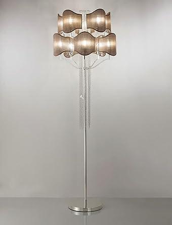 tredici Diseño Cristal Lámpara de pie Prive en Real Silver ...