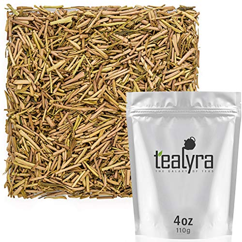Tealyra - Superior Miyazaki Hojicha - Japanese Roasted Green Tea - Organically Grown - Loose Leaf Tea - Low Caffeine - 110g (4-ounce)