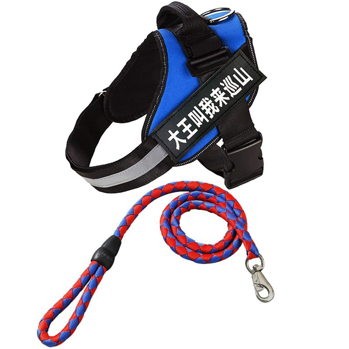 bluee XXL bluee XXL Dog Chest Strap with Traction Rope, Dog Chain, Medium Dog Large Dog, Hyena Rope, Anti-Rush Chest Strap, wear-Resistant Traction Rope, 3 colors Optional (color   bluee, Size   XXL)