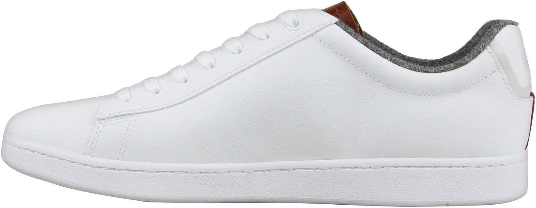 Lacoste Carnaby EVO 318 2 SPM White Brown Men/'s Sneaker 36SPM0010385
