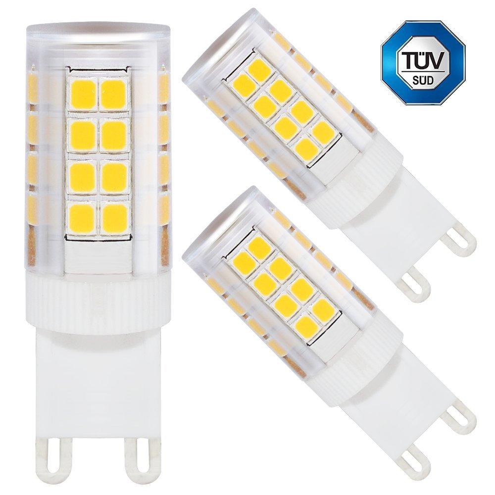 3 PACK of TORCHSTAR ETL Listed 3.5W G9 Base LED Light Bulb, 40W JCD G9 Base Halogen Bulb Equivalent, 2700K Soft White, 360 Degree Omni Bulb w/Ceramic Base for General/Accent/Task/Landscape lighting