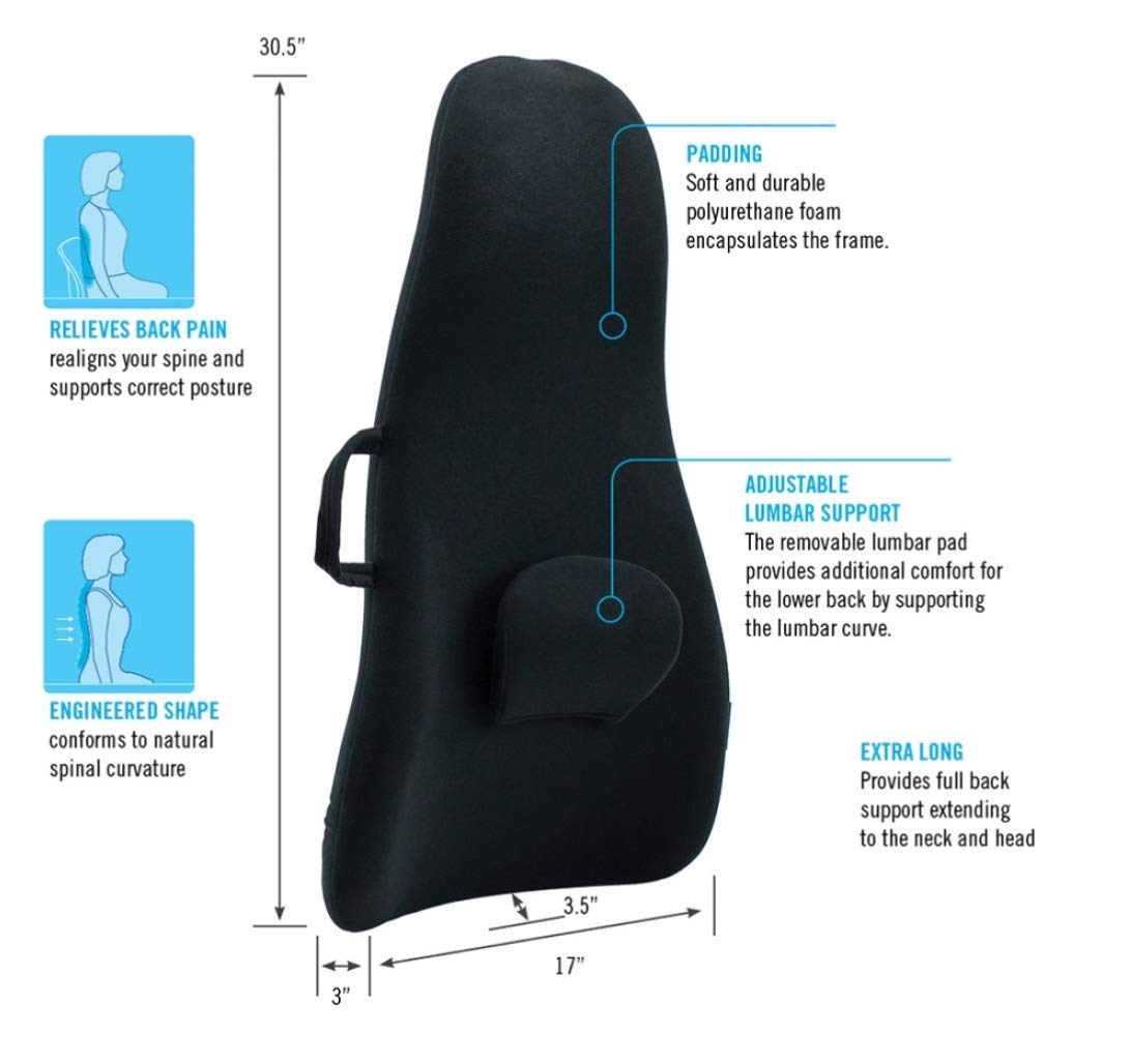ObusForme by Homedics OFHB-BLK Highback Backrest Support by ObusForme