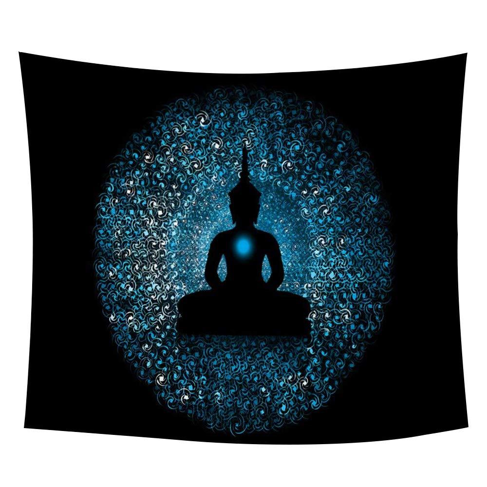 "iLeadon Tapestry Wall Hanging Decor-Gautama Buddha Tapestries Wall Art Cotton Headboard Home Decor For Bedroom Dorm Living Room,60""H x 80""W"