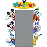 Eureka Back to School Mickey Mouse Clubhouse 'Welcome' Door and Window Go-Around Classroom Decorations for Teachers, 2pc, 17'