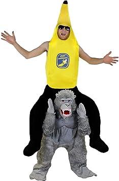 ILOVEFANCYDRESS Disfraz A Hombros DE Gorila con Disfraz DE PLATANO ...