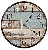 Cheap Large 10.5″ Wall Clock Decorative Round Wall Clock Home Decor Novelty Clock RUSTIC WOOD