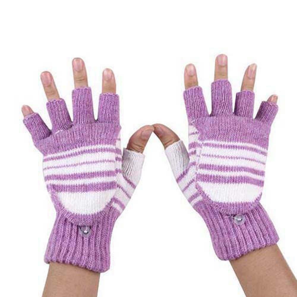 Hand//Wrist Warmer Purple Women's Finger-less Gloves Winter Gloves
