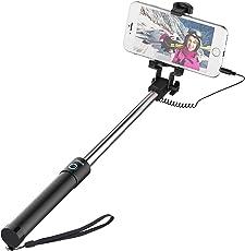 JETech Palo Selfie Stick, Extensible Control de Cable, Inalámbrico (No Batería No Bluetooth) Monopod Polo