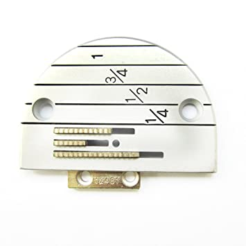 KUNPENG - PLACA Y máquina de coser diente DE AGUJA - para YAMATA FY5318 ARTISAN 797 797A 797AB - #12482LGW+12481 1 conjunto: Amazon.es: Hogar