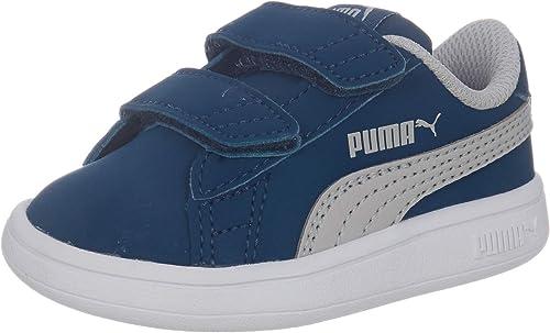 Puma Smash v2 Buck V Inf Kinder Low Boot Sneaker Blau High