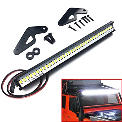 "ShareGoo Super Bright 36 LED Light Bar Metal Roof Lamp Lights for Traxxas TRX4 90046 D90 Axial SCX10 1/10 RC Crawler,150mm/5.9"": Toys & Games"