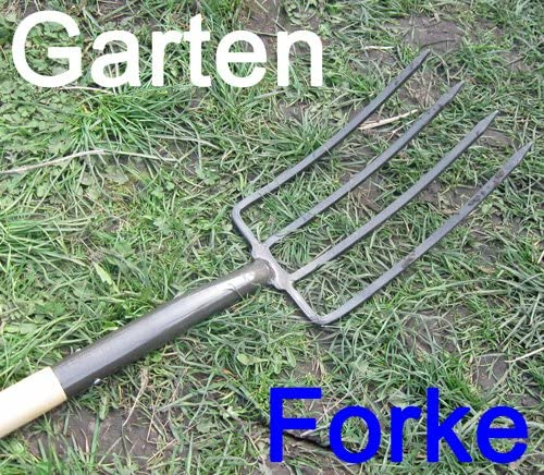 Horca maciza metal con mango de madera y mango en forma de T, Jardín Mist Tenedor forke Mist Tenedor (LHS): Amazon.es: Jardín