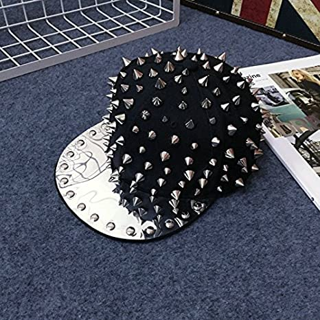 Amazon.com: maybao Studded snapback Gorra de remaches Spike ...
