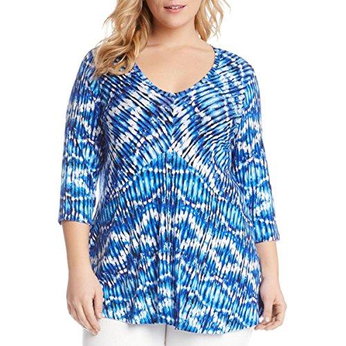 karen-kane-womens-plus-asymmetric-tie-dye-blouse-blue-1x