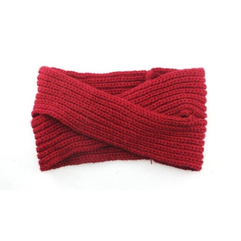 Toifucos Bandeau de Femmes Bonnet Tricoté Bande de Cheveux Réchauffeur D'oreille D'hiver Turban Foulard, Beige