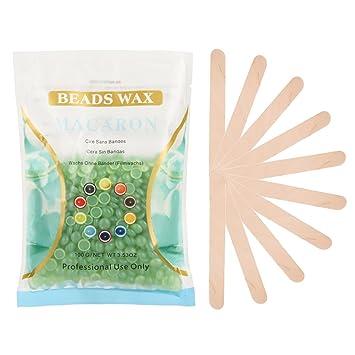 Amazon.com : Korlin Hair Remover Kit - Hard Wax Beans 3.5 oz and Wax Applicator Sticks 10-Piece (Aloe Vera) : Beauty