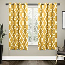 Exclusive Home Curtains Ironwork Sateen Woven Blackout Thermal Grommet Top Window Curtain Panel Pair, Sundress, 52x63