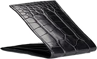 product image for Classic - Handmade Black Matte Alligator Bifold Wallet