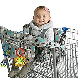 2 in 1 Shopping Cart and High Chair Cover for Baby and Toddlers - Folds into Pouch for Easy Carrying