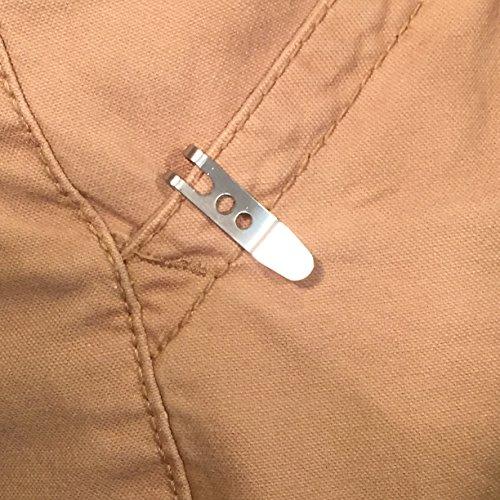 Keychain Pocket Clip Key Ring Holder - Eliminates Pocket Bulge  Small but  Strong